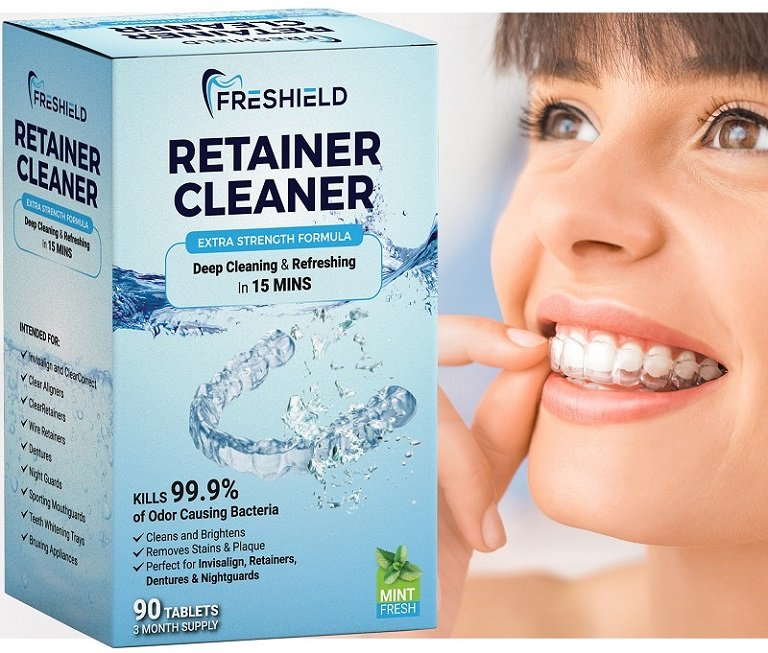 Freshield Retainer Cleaner_Smile with Invisalign